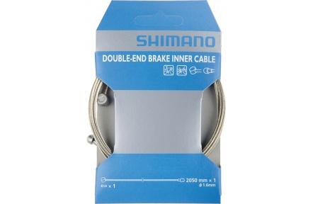 SHIMANO brzdové lanko s dvojím zakončením SILNICE/MTB, 1,6mm x 2050mm, 10 ks