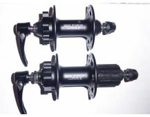 Náby MTB Shimano Deore XT FH-M756 Disc-6 děr pár přední + zadní 32děr,černá