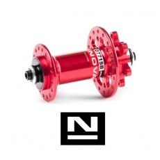 Náboj Novatec D771SB + redukce 15mm, přední, 32děr, červený (N-logo)