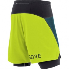 GORE R7 2in1 Shorts-dark nordic/citrus green