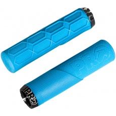 PRO gripy Lock On Trail, 32x130 mm, modré