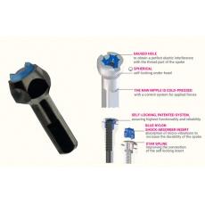 VISION ABS Black Hexa niple 15mm (Metron 40, 55)