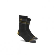 CRANKBROTHERS Icon MTB Sock-black/gold/grey
