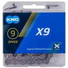 ŘETĚZ KMC X9 ŠEDÝ BOX