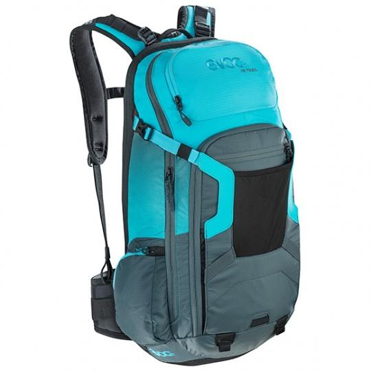 EVOC batoh FR TRAIL 20l slate neon blue