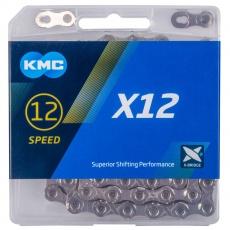 ŘETĚZ KMC X12 STŘÍBRNÝ BOX