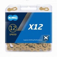 ŘETĚZ KMC X12 ZLATÝ BOX