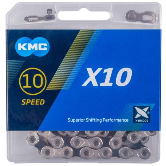 ŘETĚZ KMC X10 STŘÍBRNO/ČERNÝ BOX
