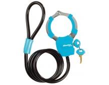 MasterLock zámek s poutem 100cm x  8mm, 4 klíče, vinylový potah - modrý