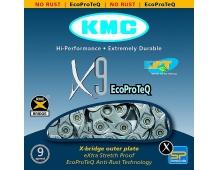 ŘETĚZ KMC X-9 EPT NEREZNOUCÍ BOX 116ČLÁNKŮ