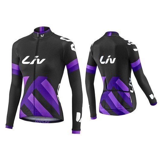 LIV Race Day Mid-Thermal LS Jersey-black/purple