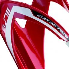 ELITE košík CUSTOM RACE  lesklý červený/bílý