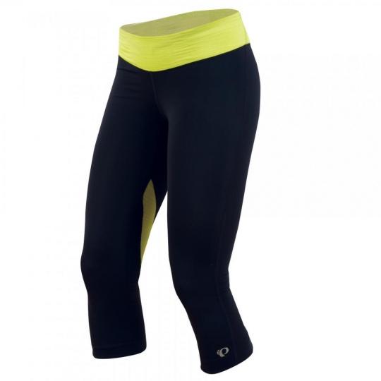 PEARL iZUMi W FLY 3/4 kalhoty, černá/žlutá, S