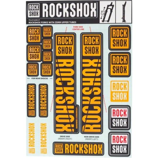 11.4318.003.508 - ROCKSHOX DECAL KIT 35MM NE02 ORANGE