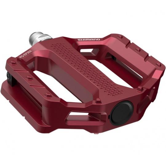 SHIMANO pedály MTB-ostatní PD-EF202 Flat pedály bez odrazek červená pro E-Bike/Trekking/Urban bal