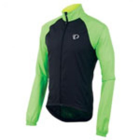 PEARL iZUMi ELITE BARRIER bunda, černá/SCREAMING zelená