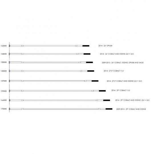 """WHEEL 14 spoke silver 2.0-1.8-2.0/134mm Cobalt 2 26"""" 2014-16"""
