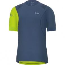 GORE R7 Shirt-deep water blue/citrus green