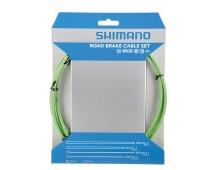 SHIMANO brzd set pro sil SIL-TEC z nerez oceli lan: 2000mm + 2050mm bow: SLR 1400+800 mm zelený