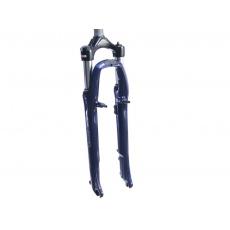 """Odpružená vidlice trekking 28"""" SR Suntour NEX 410 V2 MLO /  1 1/8"""" závit / zdvih 63mm / disc (Standart) a V-brzdy / tmavě modrá metalíza"""