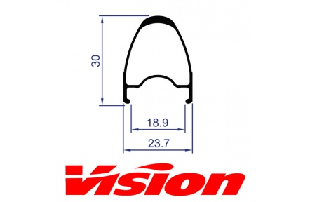 Ráfek VISION Team 30 přední, 18 děr
