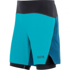 GORE R7 2in1 Shorts-scuba blue/sphere blue-XL