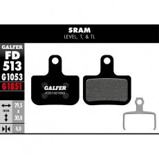 GALFER destičky SRAM LEVEL FD513 ebike