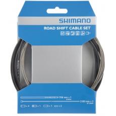 SHIMANO řadící set OT-SP41 z nerez oceli, 1700mm, SUS lanko 2100mm, černý