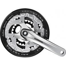SHIMANO kliky ALIVIO FC-T4010 oktalink 3x9 175 mm 44x32x22z bez krytu stříbrné