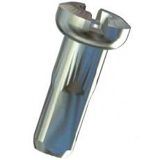 Sapim nipl mosazný Polyax 12mm stříbrný