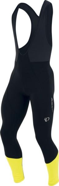PEARL iZUMi ELITE THERMAL kalhoty s laclem, černá/SCREAMING žlutá, L