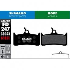 GALFER destičky HOPE/SHIMANO FD247 PRO