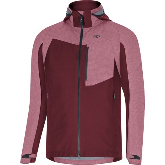 GORE C5 GTX Infinium Hybrid Hooded Jacket-chestnut red