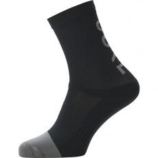 GORE M Mid Brand Socks-black/graphite grey