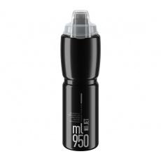 ELITE láhev JET PLUS 21'  černá/šedé logo, 950 ml