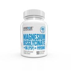 SPORTIQUE magnesium Bis+B6+piperine 400mg 90kapsli