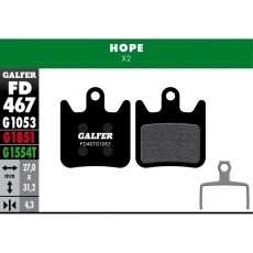 GALFER destičky HOPE FD467 standart