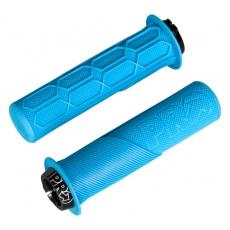 PRO gripy Lock On Trail s přírubou, 32x130 mm, modré