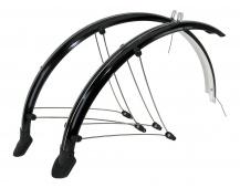 """Blatníky celoobvodové z flexibilního plastu MTB pro 26"""" kola + zástěrky+ vzpěry šířka 60mm barva černá"""