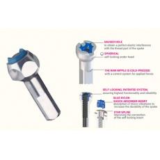VISION ABS Silver Hexa niple 14mm (TC-24)