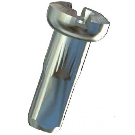 Sapim nipl mosaz Polyax 14mm stříbrný