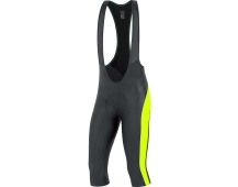 GORE Element Bibtights 3/4+-black/neon yellow