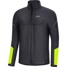 GORE M Thermo Long Sleeve Zip Shirt-black/neon yellow