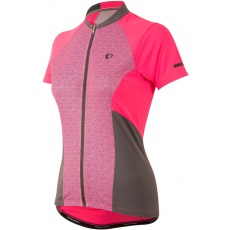 PEARL iZUMi W ELITE Escape SS dres, Screaming Pink Parquet Stripe