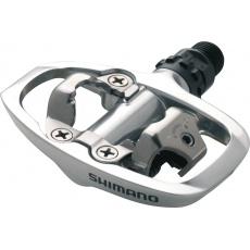 SHIMANO pedály Sil - ostatní PD-A520 SPD bez odrazek stříbrné