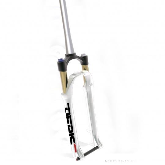SPINNER 29'' odpružená vidlice AERIS AIR, remote, zdvih 100 mm, DISC, 15mm osa, tapered, bílá