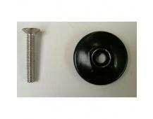 HD parts OD2 top cap 35.2 AL blk w/M 6x35mm STL Bolt (for star nut type)
