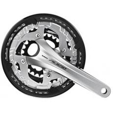 SHIMANO kliky ALIVIO FC-T4060-T integr.klika 3x9 175 mm 48x36x26z bez BB misek s krytem černé