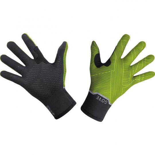 GORE GTX Infinium Stretch Mid Gloves-black/neon yellow
