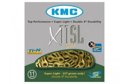Řetěz KMC X11 SL11 kol ,zlatý, balený v krabičce